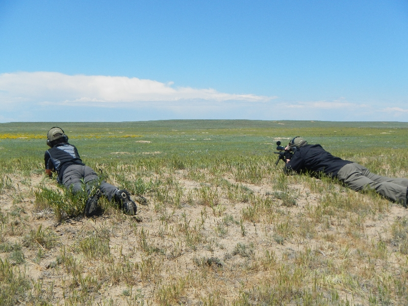 laying in wait while prairie dog hunting