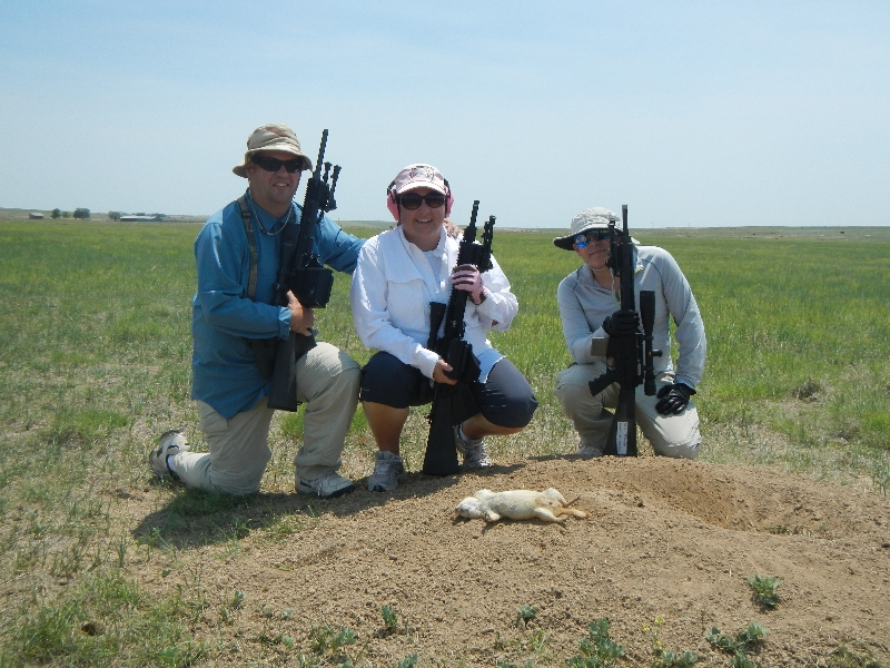 prairie dog hunting family portrait