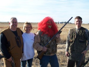 Pheasant Hunters at Longmeadow Game Resort in October