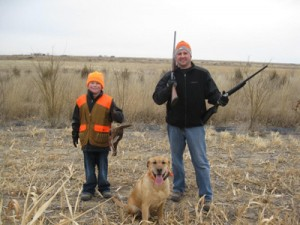 Father and Son Pheasant Hunting in Colorado