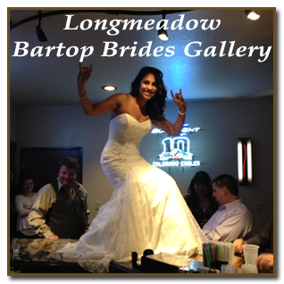 Longmeadow Reception Hall bartop brides