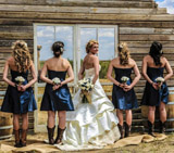 Brides at outdoor Wedding Venue Longmeadow event center