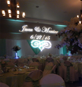wedding packages feature gobo lighting
