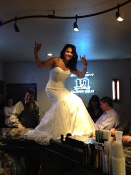 Wedding Bartop Brides at Longmeadow Game Resort and Event Center