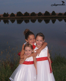 Three young bridesmaids at longmeadow