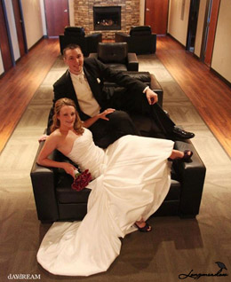 Bride and Groom at Longmeadow Event Center