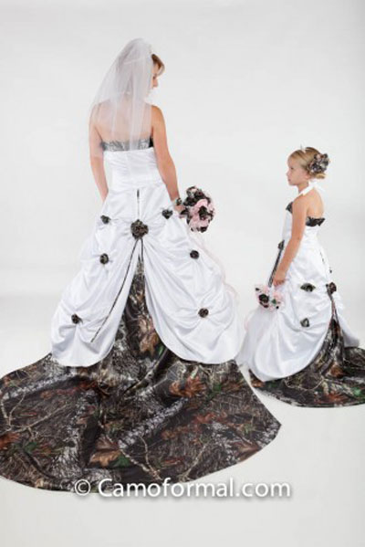 Country Wedding Ideas Dress With Camo
