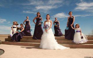 wedding at longmeadow under a clear blue sky