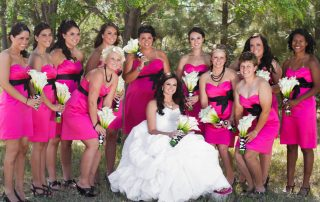 wedding party at longmeadow event center