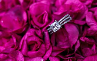 wedding ring in some flowers