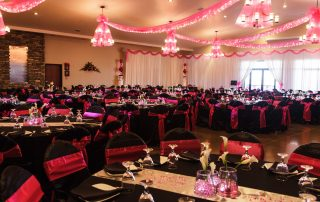 wedding set up in longmeadows banquet hall