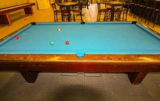 pool table at longmeadow