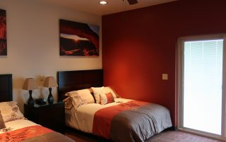 two bed room at longmeadow event center