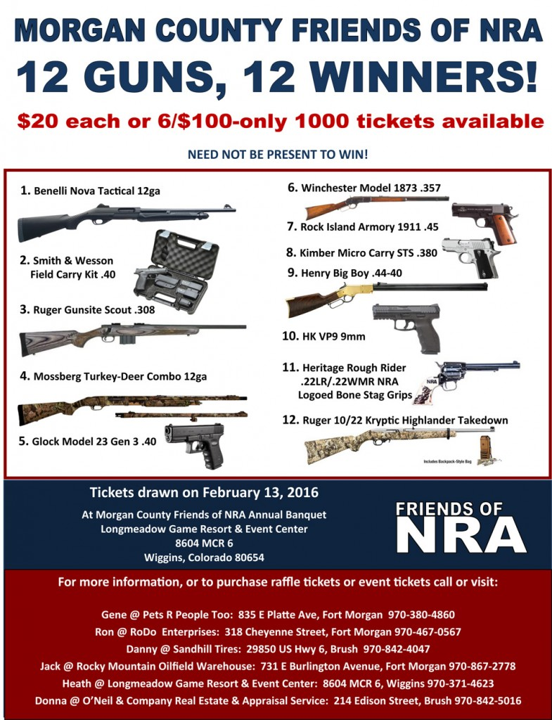 2016 Morgan County Friends of the NRA Banquet