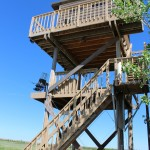 A picture of a sporting clays tower at longmeadow events center