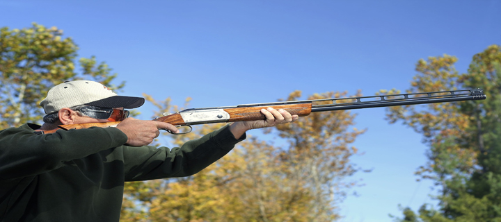 A man shooting clays