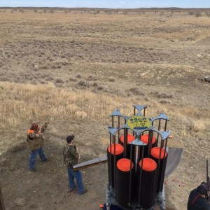 Automated sporting clays launcher