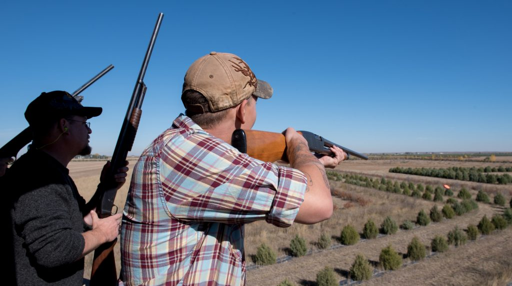 Men at a sporting clays course