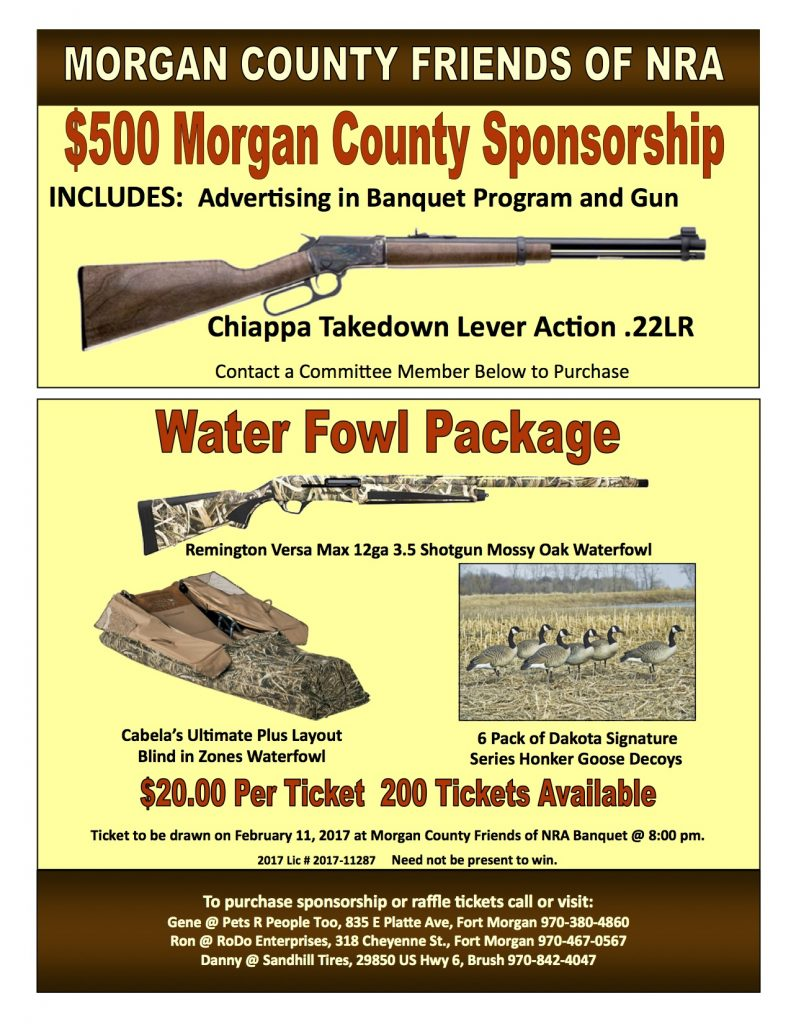 Morgan Sponsorship & Water Fowl Pkg Flyer