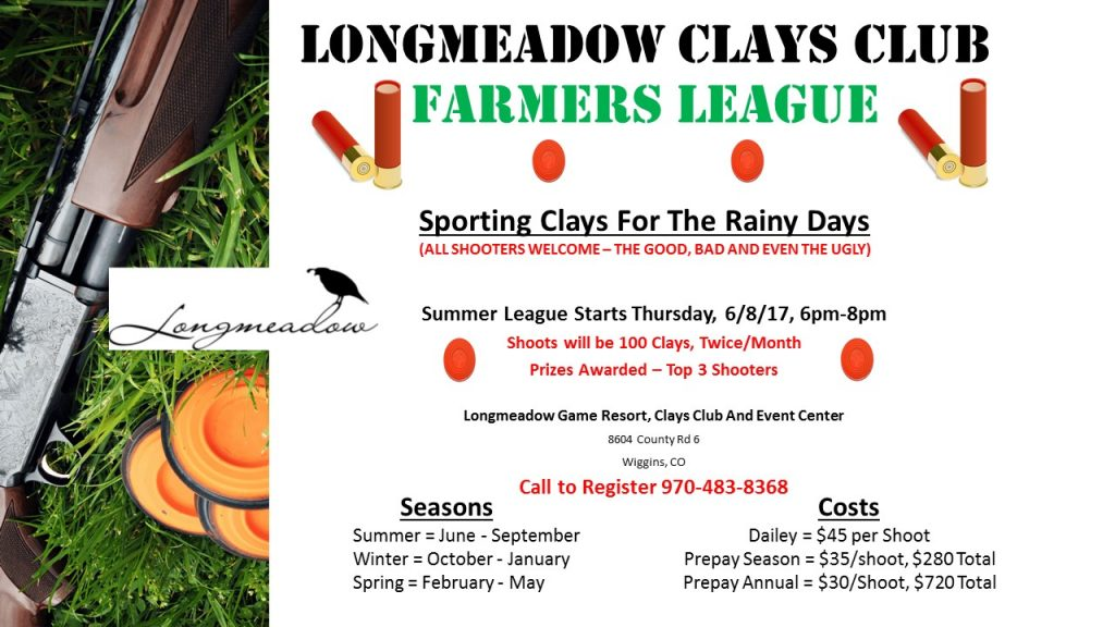 Sporting Clays Club Farmers League Summer 2017 Season Flyer