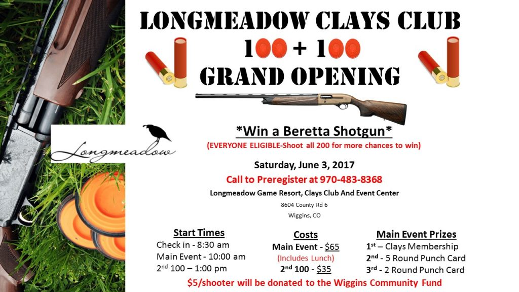 Longmeadow Sporting Clays Club 100+100 Grand Opening