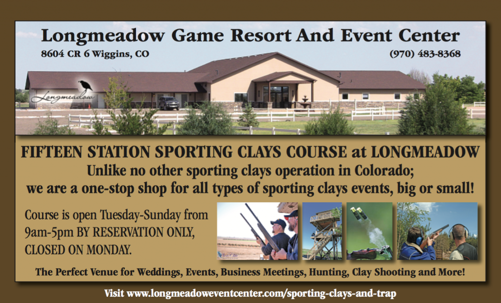 A flyer for the Longmeadow Sporting Clays Club, NSCA/CSCA