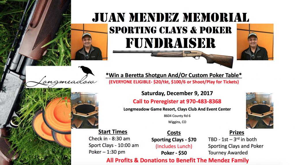 Juan mendez Memorial Fundraiser Shoot Flyer - Longmeadow