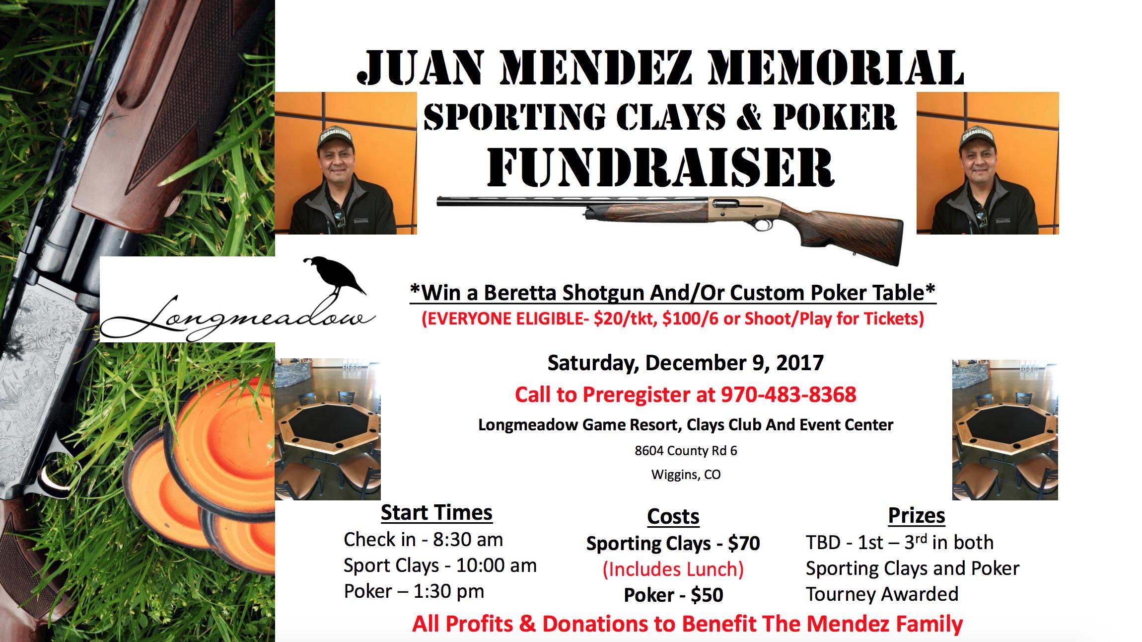 Juan Mendez Memorial Fundraiser Shoot Longmeadow Game Resort And