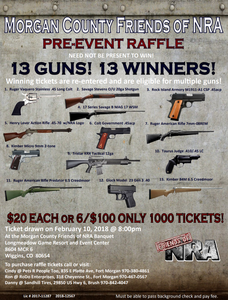 MCFNRA Pre Event Raffle Flyer