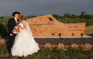 wedding couple at longmeadow event center - Colorado Wedding Venue