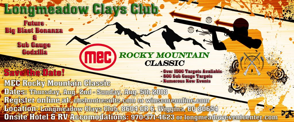Longmeadow Clays Club - MEC Rocky Mountain Classic Save the Date Flyer