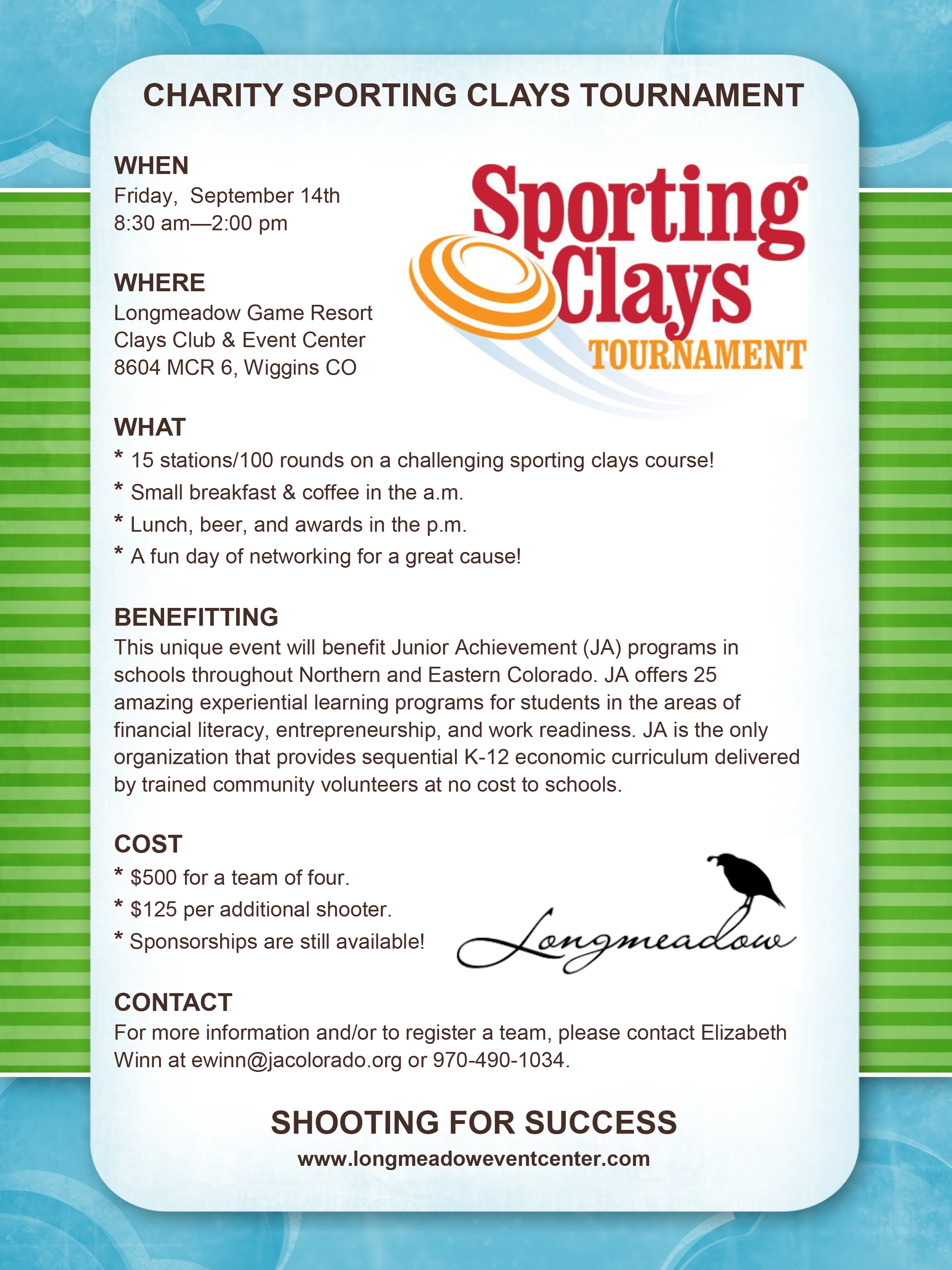 Charity Sporting Clays Tournament