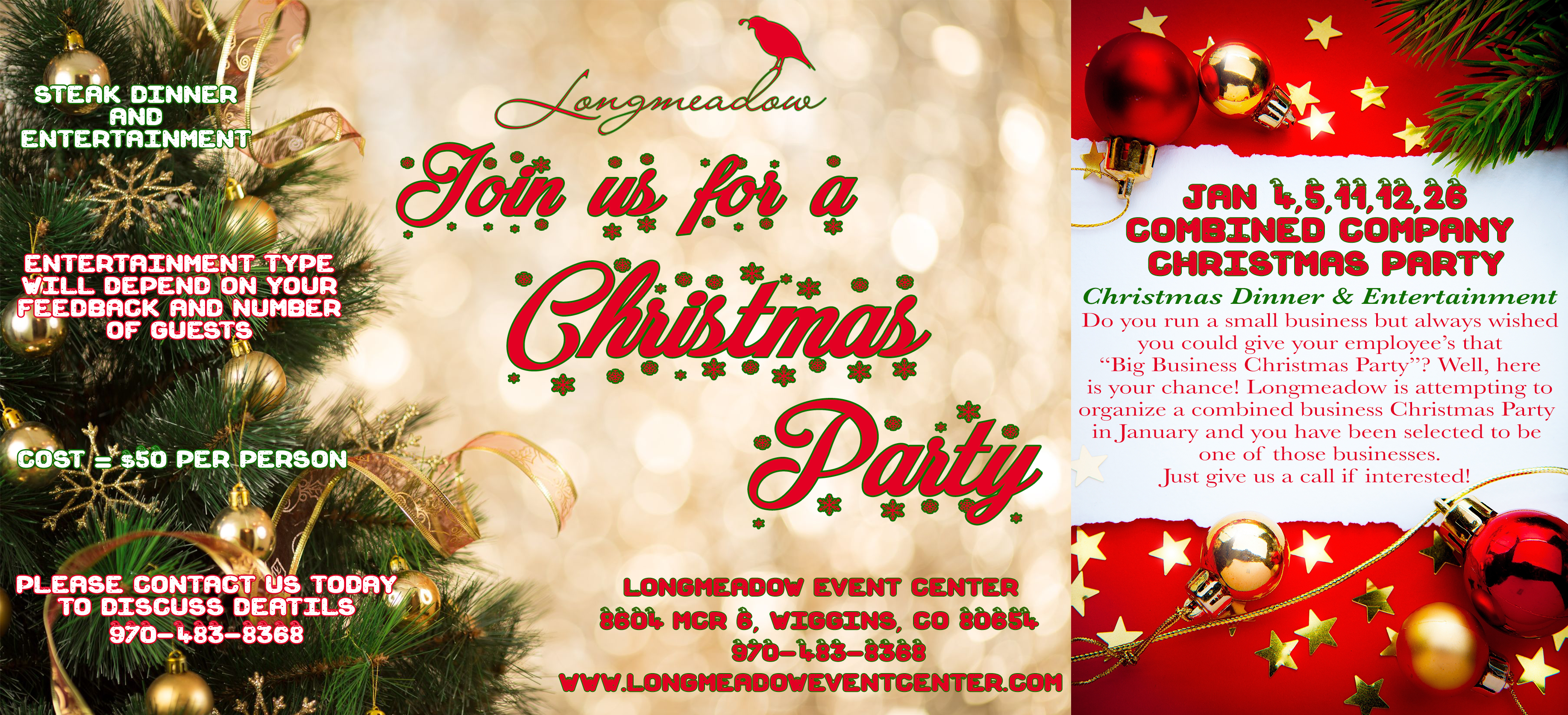 Combined Christmas Party Flyer