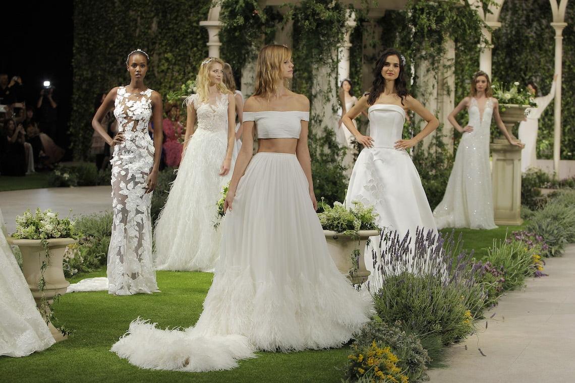A group of beautiful women wearing beautiful wedding dresses - Sexiest Wedding Dresses 2019