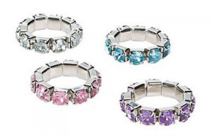 stretchy crystal ring