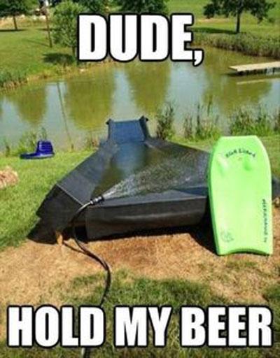 fun wedding ideas adult slip n slide into a lake