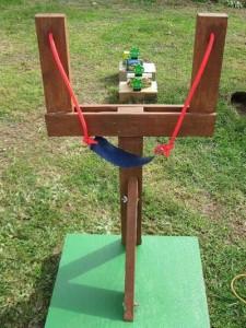 image of backyard slingshot game