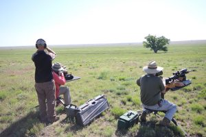 prairie dog hunters and a spotter