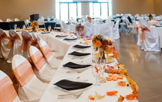 wedding table at longmeadow