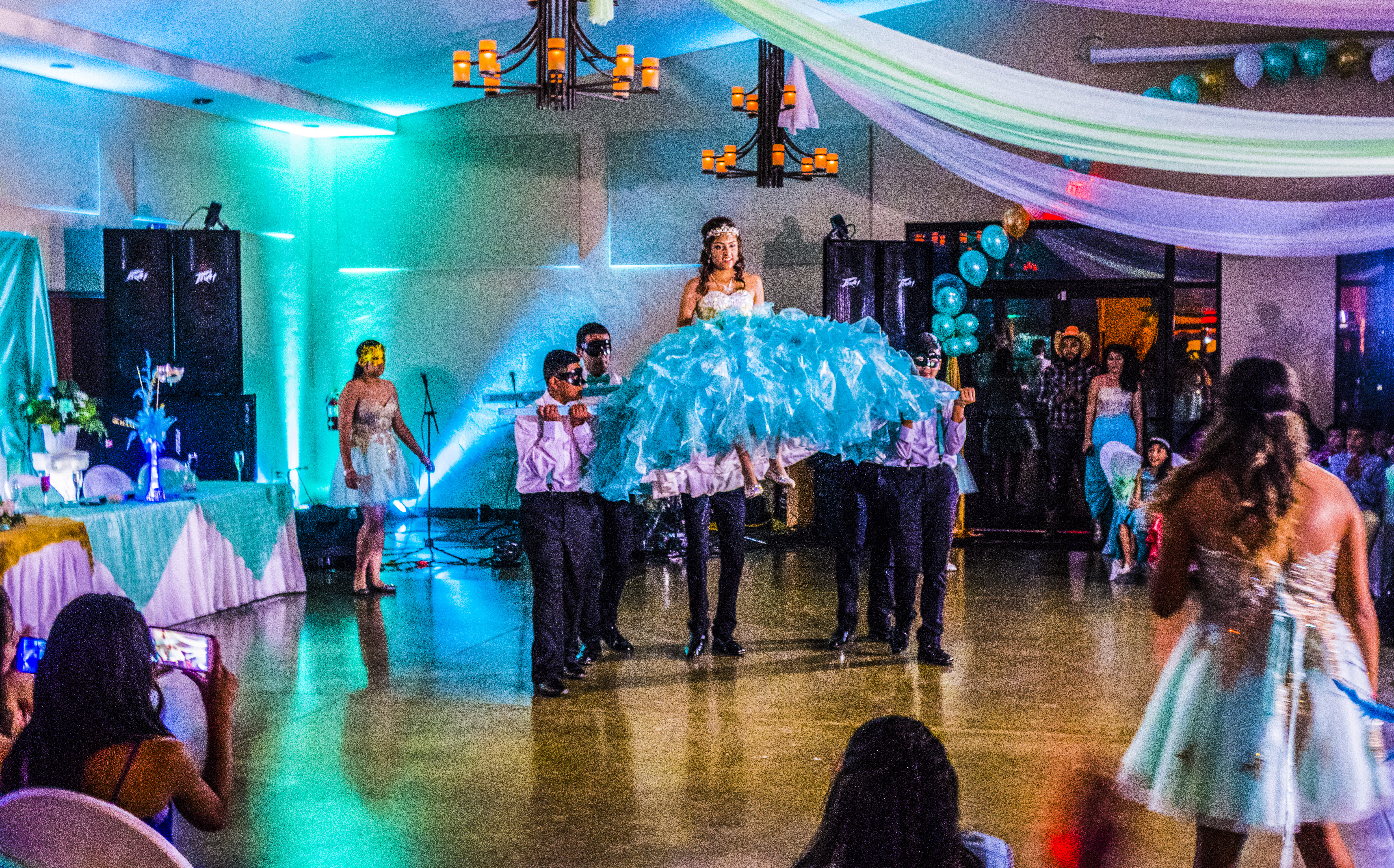 a dance happening at a quinceanera - Affordable Colorado Quinceañera