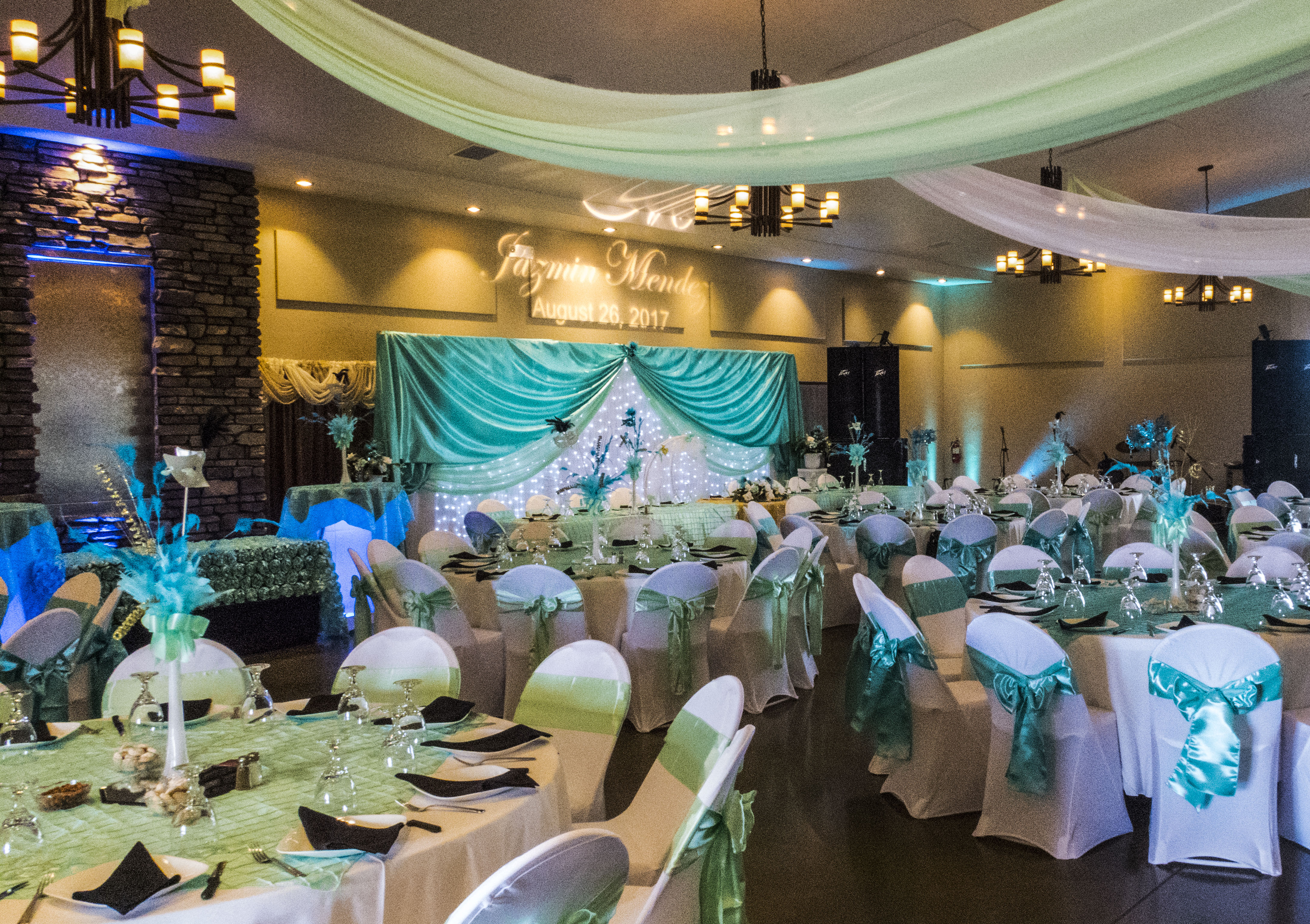 A stunning photo of the beautiful Event space at Longmeadow Event Center - Affordable Colorado Quinceañera