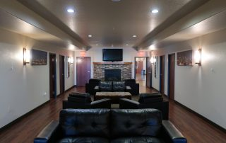 Lounge area at longmeadow event center