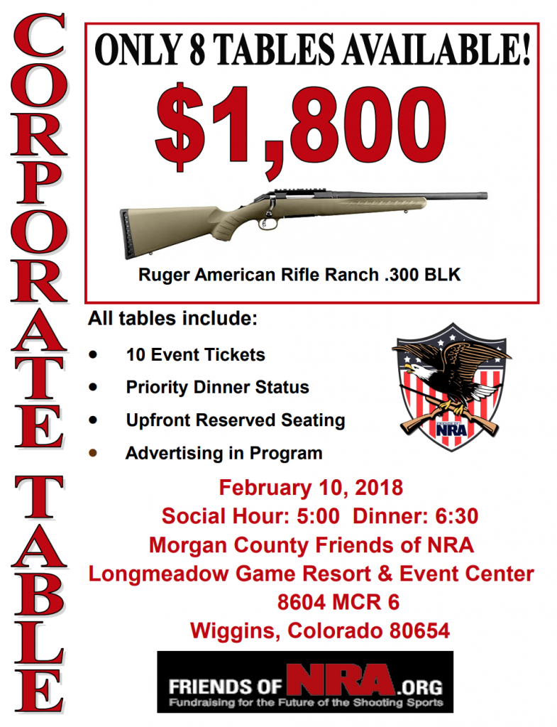 Corporate Table Flyer