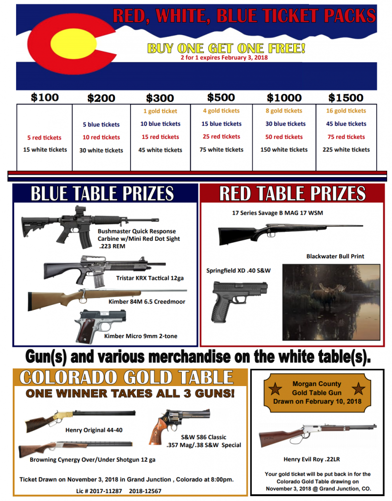 Raffle Ticket Packages Flyer
