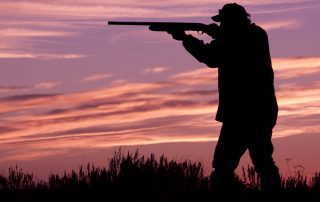 man shooting clays at longmeadow