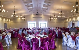 ballroom set up for quinceanera at longmeadow event center - Affordable Colorado Quinceañera