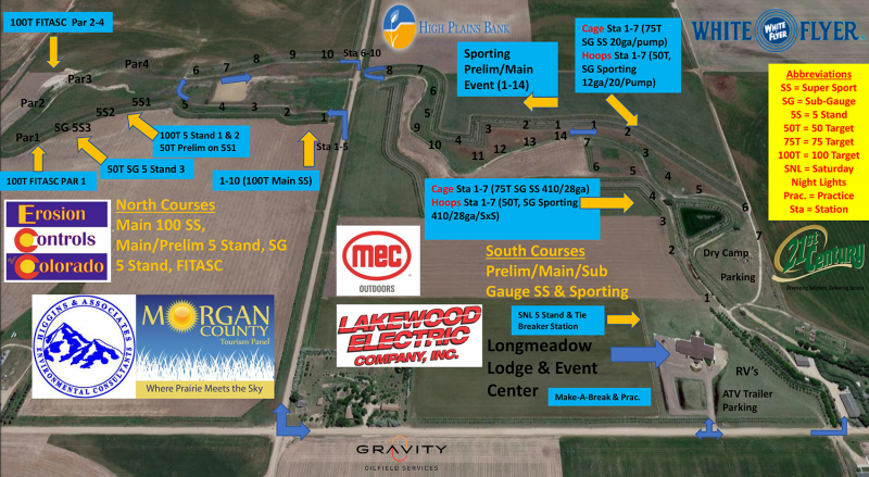 NSCA State Shoot 2019 - Course Map