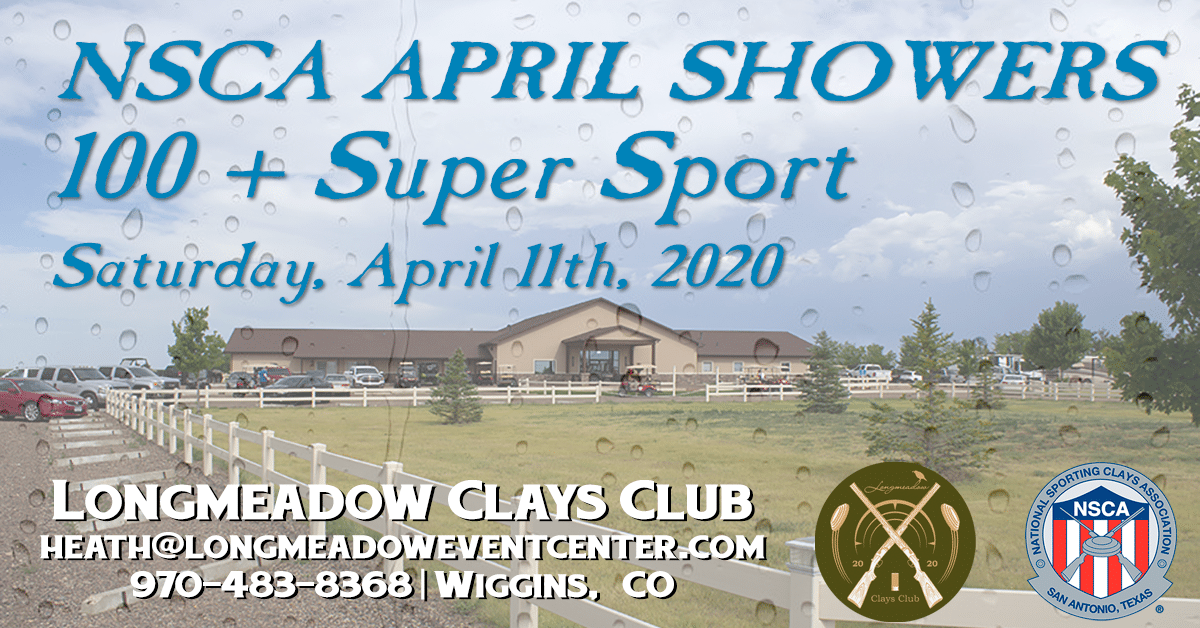 NSCA April Showers 100 + Super Sport Event Flyer